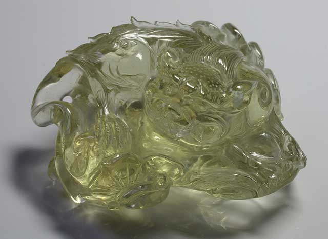 Citrine (Quartz) - Dragon - 473.17 ct