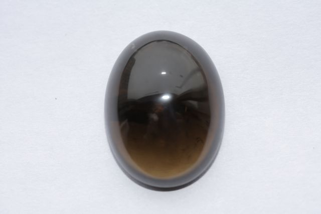 Deep cognac quartz - Oval 27.58 ct