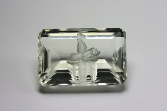 Béryl héliodore - Rectangle 14.21 ct - Fleur