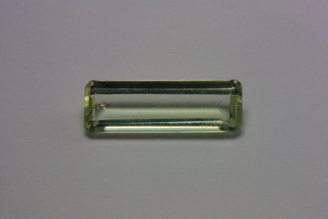 Green beryl - Rectangle 0.208 ct
