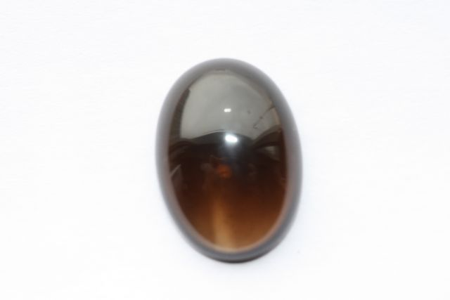 Deep cognac quartz - Oval 19.39 ct